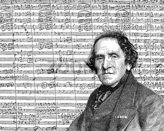 Giacomo Meyerbeer or Jakob Liebmann Meyer Beer, 1791 - 1864