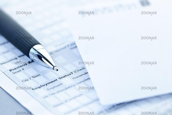 Financial application form