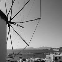 Greek landscape with windmill