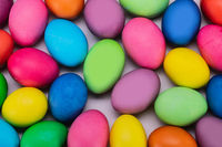 Easter eggs multicolored background