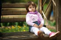 little serious girl