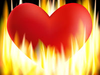 Burning Heart Illustration