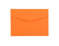 Orange paper envelope isolated on white