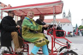 Claudia Roth (MdB,Bündnis 90/Die Grünen) bei einer Bundestagswahlveranstaltung 19.09.13 in Magdeburg