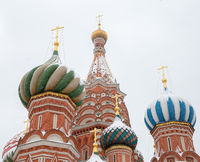 saint basil cathedral, Empty red square, moscow, russia. Pokrovskiy sobor