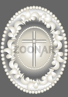 Abstract medallion Christ.
