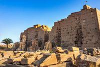 Ruined statues in Karnak