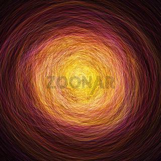 Abstrakter Tunnel der Reinkarnation - Orange Rot
