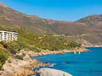 coastline of Chapman's Peak road in Cape Town