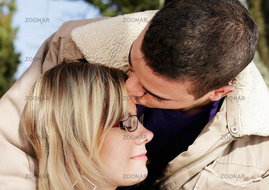 Kuss stirn Luciano