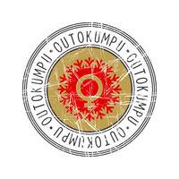 Outokumpu city postal rubber stamp