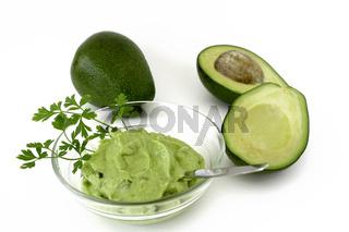 Guacamole und Avocados