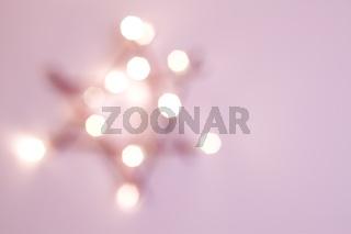 Weihnachtsstern unscharfe rosa Dekoration