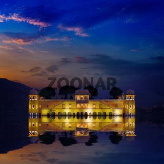 India landmark - Jal Mahal Lake Palace