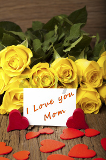Muttertag - Mother day 'I Love you Mom'