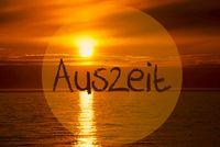 Romantic Ocean Sunset, Sunrise, Auszeit Means Downtime