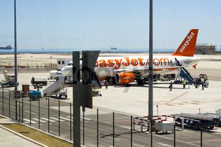 Easyjet Airbus on Gibraltar Airport