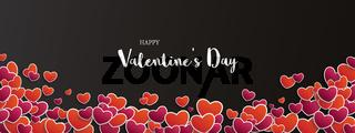 Dark Header Red Purple Hearts Happy Valentines