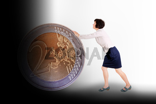 Euro coin rolls into the black hole