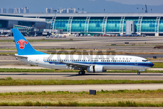 China Southern Airlines Boeing 737-800 Flugzeug Flughafen Guangzhou