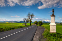 On the road to the Central Bohemian Uplands, Czech Republic.