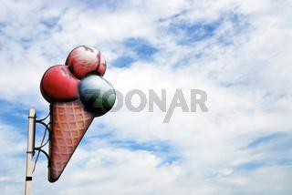 Eis Werbetafel