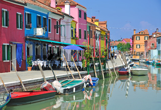 auf Burano in der Lagune von Venedig
