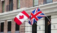 Canada Great Britain Flags
