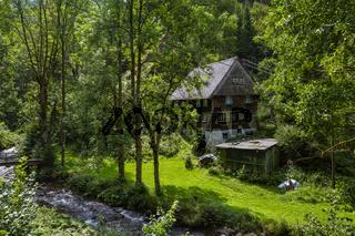 einsames Haus bei Simonswald im Schwarzwald