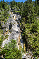 The wild-romantic Almbachklamm in the Berchtesgaden Land is a popular excursion destination in Bavaria, Germany