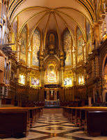 Gothic church interior in Spain.