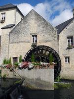 Wassermühle in Bayeux, Frankreich