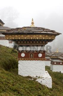 Stupas der Gedenkstätte auf dem Dochula-Pass,Bhuta