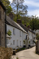 HELSTON, CORNWALL, UK - MAY 14 : Typical homes in Helston, Cornwall on May 14, 2021