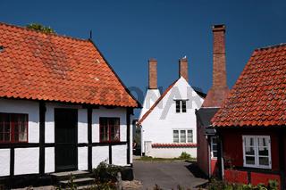 Old houses in Gudhjem on Bornholm