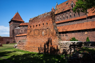 The Malbork Castle of Teutonic Order in Poland