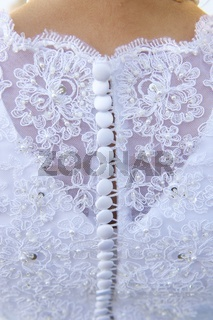 Wedding Dress Detail and Bride
