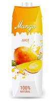 Fruit Juice Mango Packaging Isolated White Background