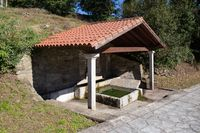 Typical Old traditional public laundry of Galicia, Spain