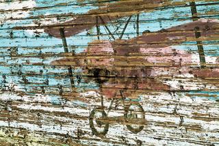Graffiti an der Scheune