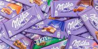 Milka Schokolade Schokoladen verschiedene Sorten Hintergrund Banner