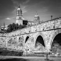 Roman bridge in Salamanca in Spain