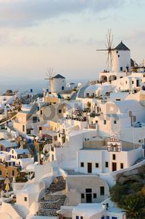 Oia village at Santorini island, Greece