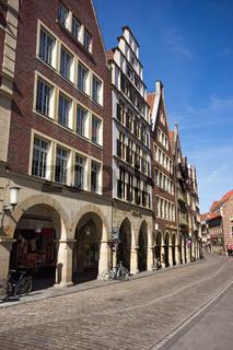 Gebäude am Prinzipalmarkt in Münster, Deutschland