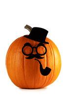 Pumpkin gentleman on Halloween