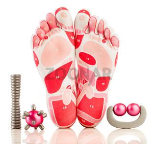 massage on the foot