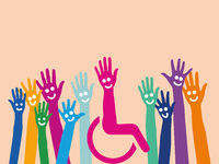 Viele Hände leben Integration und Inklusion