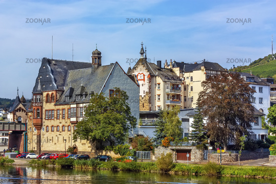 View of Traben-Trarbach, Germany