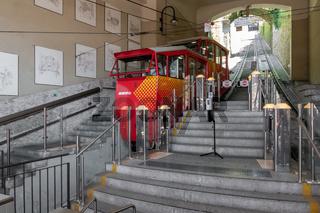 Funicular line in Bergamo