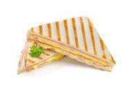 Schinken-Käse-Toast aus der Paninipresse